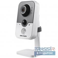 Видеонаблюдения в офисе? HikVision DS-2CD2432F-IW – беспроводная сетевая 3 Mpix Cube-камера